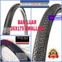 BAN LUAR SEPEDA 26 X 175 1.75 26x175 SWALLOW DELI SOFT no kenda maxxis