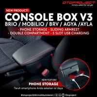 Consule Box Arm Rest Honda Brio Brv Mobilio 5 USB