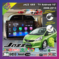 Honda Jazz 2008-2014   head unit android 10inch (free kamera parkir) - tanpa frame