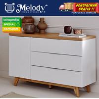 Furniture Sideboard Buffet Lemari Serbaguna - Libre SB 120cm - WH