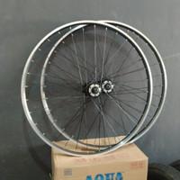 Wheelset Velg rim sepeda MTB 26 Alloy Breakline Doublewall Araya