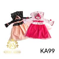 Baju Muslim Bayi Gamis Anak Perempuan 5-18 bulan Gamis Princess KA99