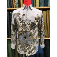Baju Batik Pria Premium bahan Sutra Halus lengan panjang