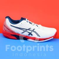Sepatu Tenis Asics Solution Speed FF 2 White Red Blue Tennis Shoes