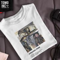 KAOS PRIA HIDING FROM RAPTORS| Tshirt | Movie | Retro