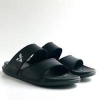 Sandal Pria   Sandal Sliper All black slide sandal