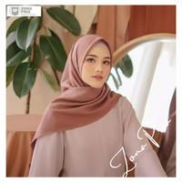 hijab polos segiempat bahan voal hijab azara kerudung segi empat azara