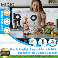 Double Ringlight Lazypod Portable Midio with Holder U Streaming ZOOM
