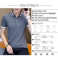 Kaos Polos Pria Lengan Pendek Kaos Haban Terbaru Baju Pria Kerah Trend
