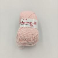 Benang Rajut Sakura Milk Cotton Baby Pink