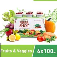 Nutrive Fibershoot 6×100ml perpaduan rasa 8buah 8 sayur