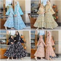 Baju Terusan Coupel Ibu Dan Anak Muslim Longdress Nafisah 2 Cp Syari