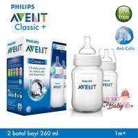 Botol Susu Avent Classic+ 260ml Twin Pack ( Isi 2 )