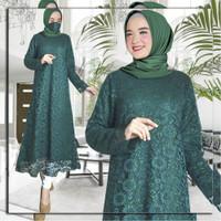 Baju Gamis Wanita Brukat Full Furing Andira