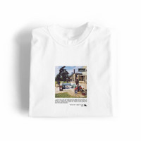 T-Shirt Be Here Now Oasis Black/White Band Music