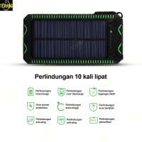 Powerbank Solar Ponsel Tenaga Surya Multifungsi Pemantik rokok - Putih