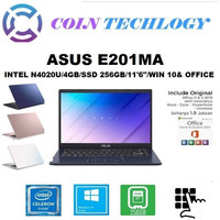 ASUS E210MA INTEL N4020 DDR4 4GB 256GB INTEL UHD 11.6 W10 OHS