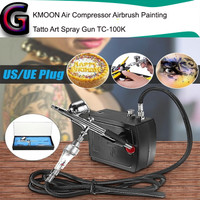 paket kompresor mini airbrush kit 0.3 compressor air brush make up art