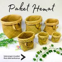 PAKET HEMAT - Bakul Purun / Tas Hantaran / Tas Hampers / Cover Pot