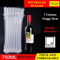 TERMURAH Wine air bag column bubble wrap packing botol kaca anti pecah