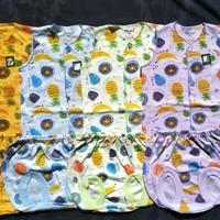 3 setelan kutung baju bayi new born merk tokusen