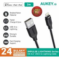 Aukey Cable CB-AL2 2.0M Lightning Braided MFI Apple Iphone Original