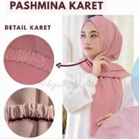 Pashmina Diamond Karet / Hijab Cantik Simply Dan Elegant
