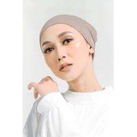 Ciput Smock Hijab Kerut Premium Anti Pusing - Hitam