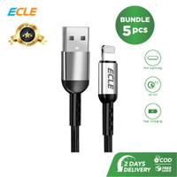 ECLE BUNDLING 5 PCS Kabel Data USB Lightning 3A Quick Charging Iphone