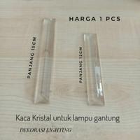 kaca kristal panjang lampu gantung