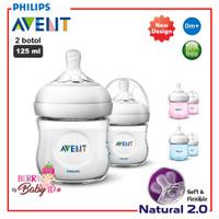 Philips Avent Natural 2 Botol Susu Bayi 125ml Twin Pack 1m+ 125 ml