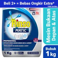 Rinso Matic Bubuk 1kg Front Load + Top Load - Deterjen Mesin Cuci