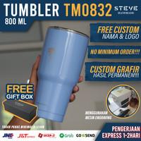 Botol minum stainless termos vacuum tumbler travel mug TM0832 Blue