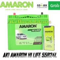 Aki Mobil Datsun Go NS60L / 55B24L Amaron Hi-Life 12V / 45Ah
