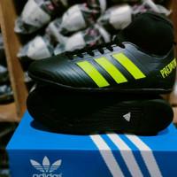 sepatu futsal dewasa Adidas predator high hitam list stabilo terbaru