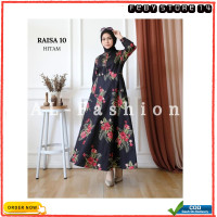 Gamis Fashion Busana Muslim Dress Wanita Maxi Raisa Modern Terlaris - Hitam 10