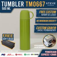 Botol minum stainless termos vacum tumbler mug TM0667 Green