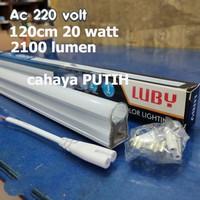 Lampu TL 20W T5 120cm PUTIH Led tube Luby LT5AC lampu set etalase neon