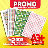 Cetak Stiker Kromo / Stiker Bontak / Cetak Sticker A3+ (Cutting)