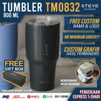 Botol minum stainless termos vacuum tumbler travel mug TM0832 Grey