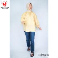 Blouse Wanita Hamnida Baju Atasan MACARON - Yellow