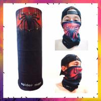 Masker motor bandana multifungsi non jahit edisi spiderman hitam