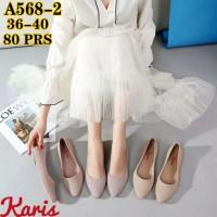 Flat Shoes Sepatu balet kantor wanita karet jelly Karis 568