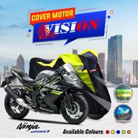 Cover motor / sarung motor Ninja R 250cc / RR 150cc murah berkualitas - Merah