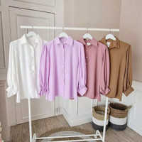 baju kemeja atasan blouse wanita muslim muslimah baju lebaran panjang