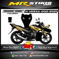 Decal Stiker Fullbody Motor Honda Verza Racing Grafis Style Garis