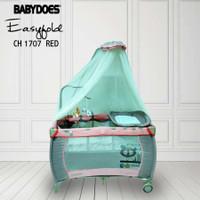Box Babydoes 1707 Playpen Tempat Tidur Bayi - BP 5 Pink