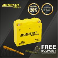 Motobatt Gel Mtx7D - 7Ah - Garansi 6 Bulan, Free Kaos