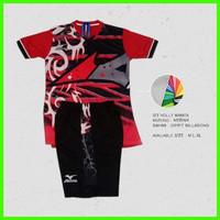 Setelan Baju Volly Wanita Printing Baju Olahraga Cewe Mizuno