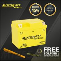 Motobatt Gel Mtz5S - 4.2Ah - Garansi 6 Bulan, Free Kaos